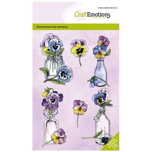 CraftEmotions Clear Stamp A6 - Violets Veilchen