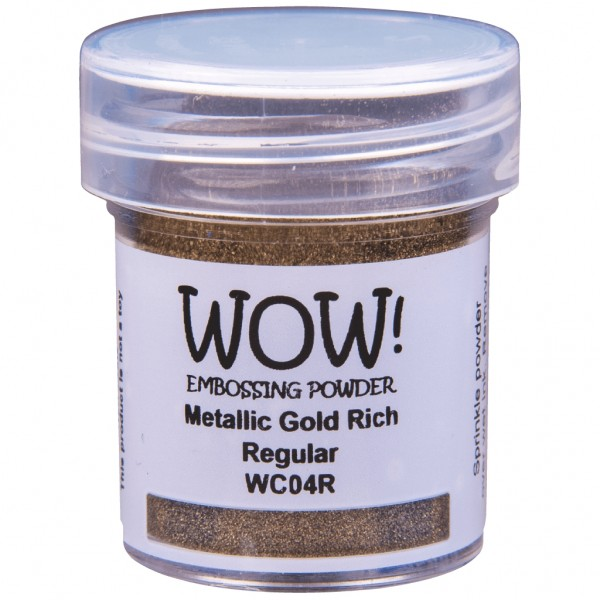 WOW! Embossing Powder Metallic Gold Rich 15 ml - Embossing Pulver