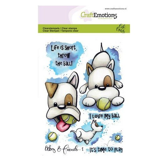 CraftEmotions Clear Stamp A6 - Odey & Friends 1 by Carla Creaties