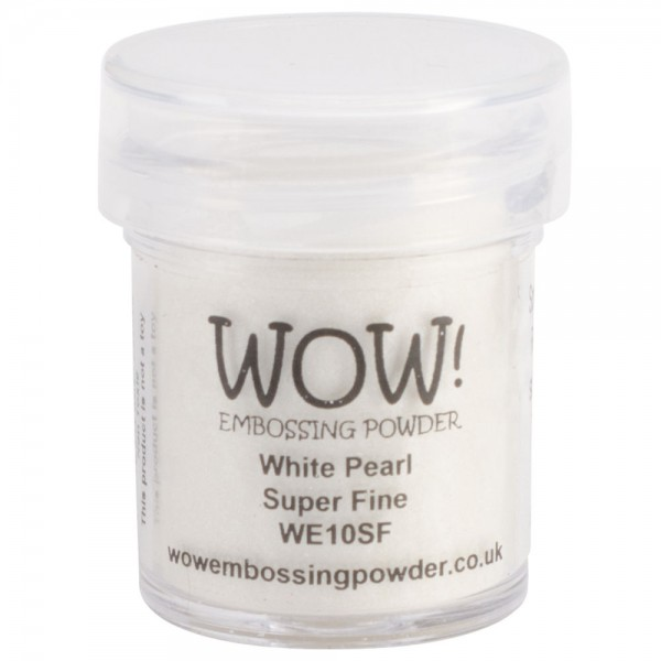 WOW! Embossing Powder White Pearl Super Fine 15 ml - Embossing Pulver