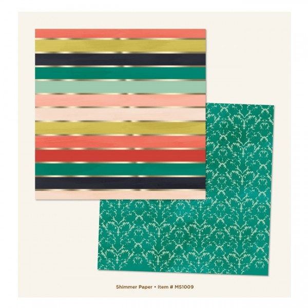 """My Minds Eye - Market Street [Ashbury Heights] - Shimmer Foiled 12"""" Paper"""