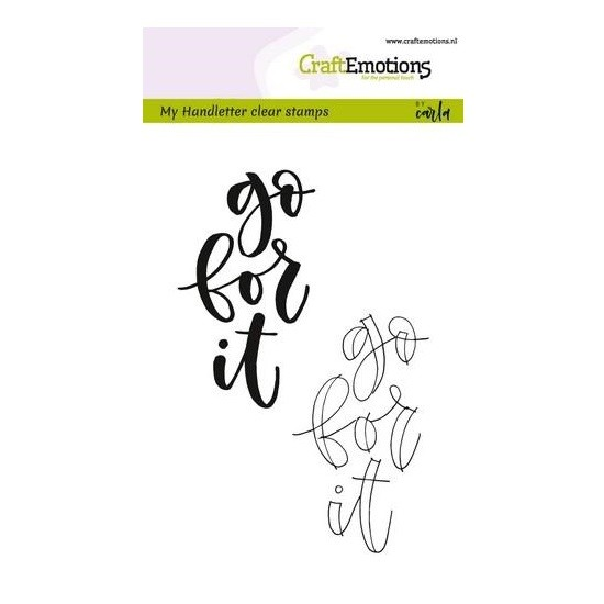 CraftEmotions Clear Stamp A6 - Handletter - go for it