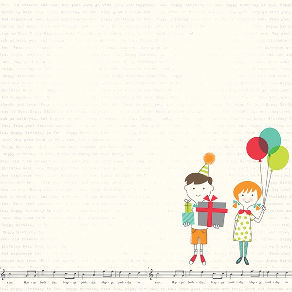 Simple Stories - Lets Party - Its Your Day Paper 30,5x30,5 cm