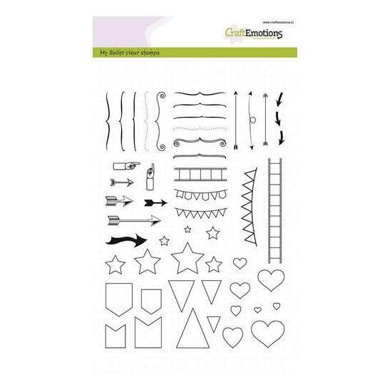 CraftEmotions Clear Stamp A5 - Bullet Journal Signs Big - Zeichen
