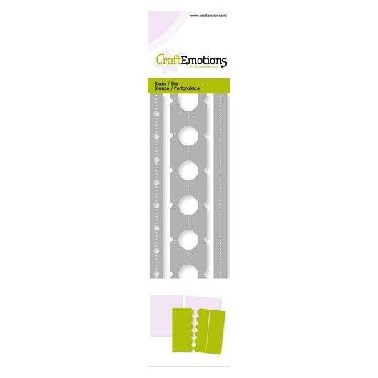 CraftEmotions Stanzschablone Ticket Perforations