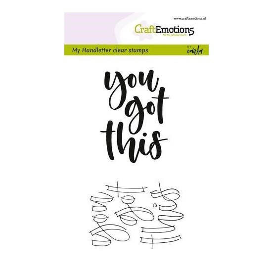 CraftEmotions Clear Stamp A6 - Handletter - You got this