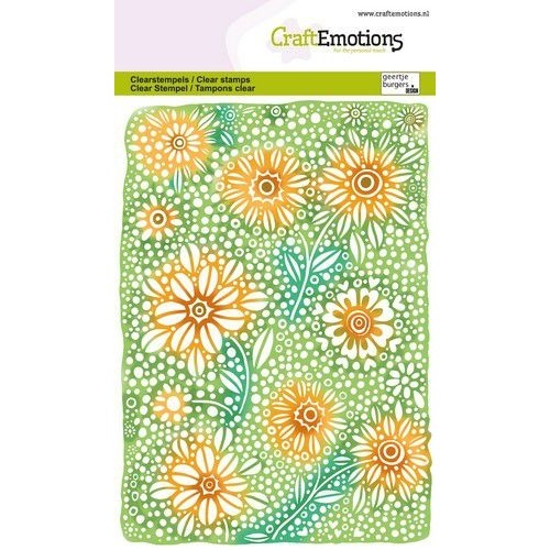 CraftEmotions Clear Stamp A6 - Floral Background