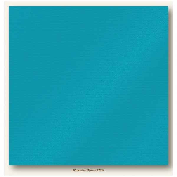 My Colors Glimmer Cardstock 216g/m² B'dazzled Blue 30,5x30,5cm