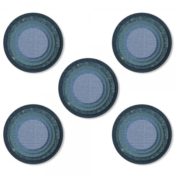 Sizzix Thinlits Die Set Stacked Tiles Circle by Tim Holtz 664437
