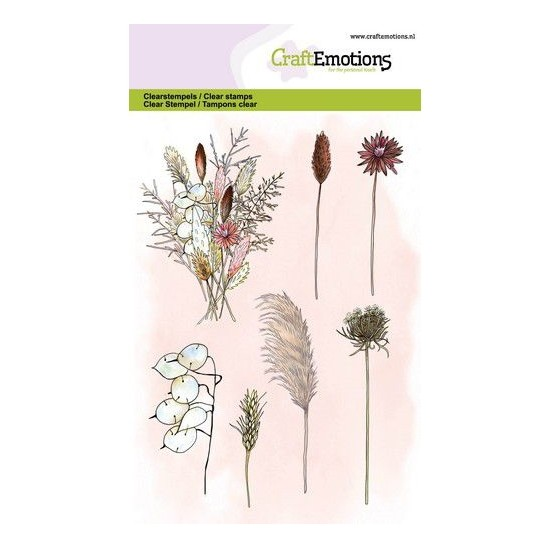 CraftEmotions Clear Stamp A6 - Dried Flowers Bouquet and Branches Trockenblumen