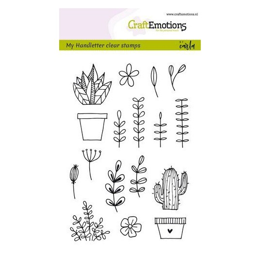 CraftEmotions Clear Stamp A6 - handmade floral Bilder by Carla Kamphuis
