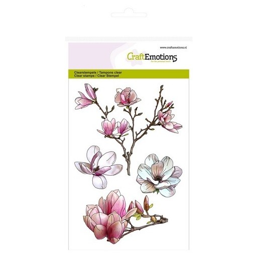 CraftEmotions Clear Stamp A6 - Magnolie