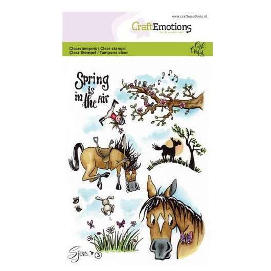 CraftEmotions Clear Stamp A6 - Sjors 3 Spring by Carla Creaties