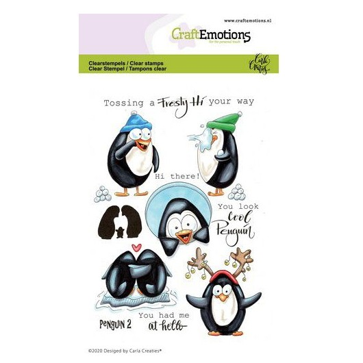 CraftEmotions Clear Stamp A6 - Pinguin 2