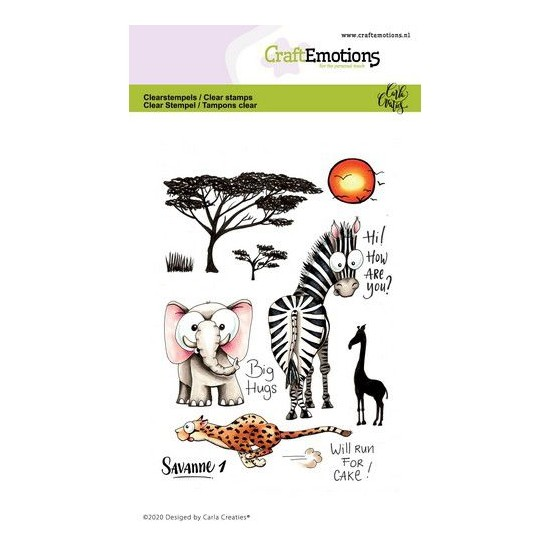 CraftEmotions Clear Stamp A6 - Savanne 1