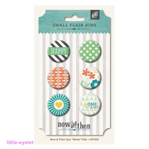 My Minds Eye - Now & Then [Izzy] - Smile Flair Pins 6 Stück