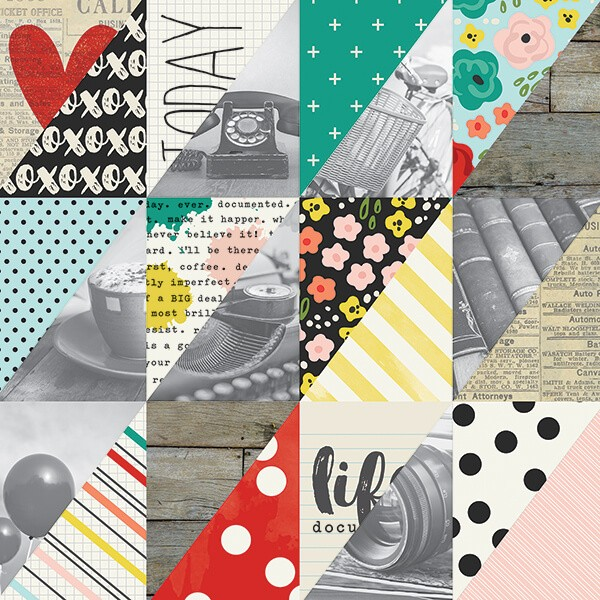Simple Stories - Life In Color - Happy Little Moments Paper 30,5x30,5 cm