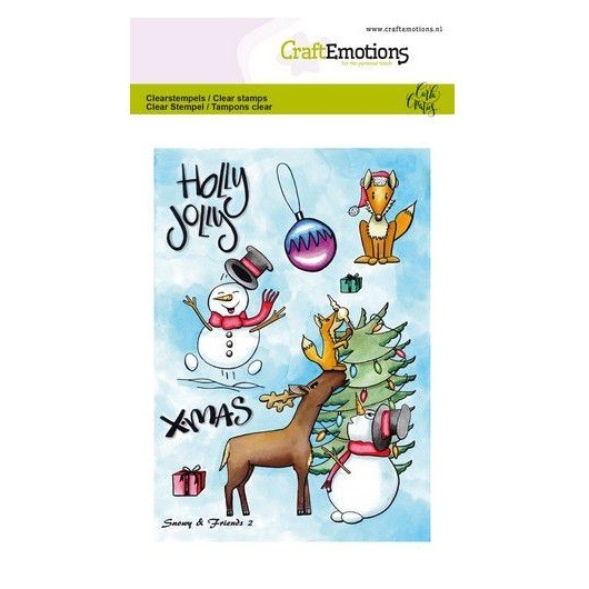 CraftEmotions Clear Stamp A6 - Snowy & Friends 2 by Carla Creaties