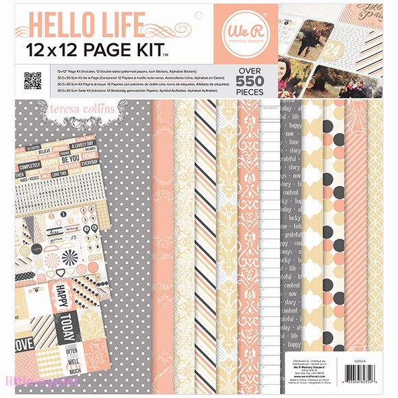 WRMK Page Kit - Hello Life - 12x12 Inch Paper Kit designed by Teresa Collins