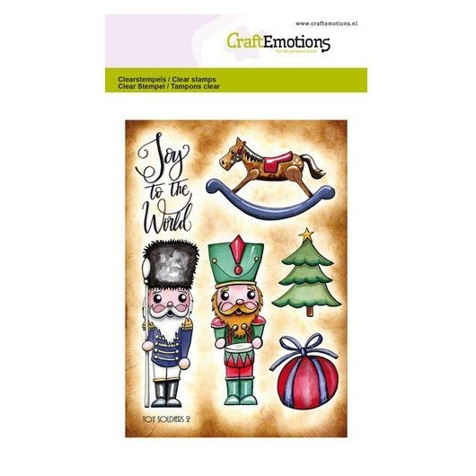 CraftEmotions Clear Stamp A6 - Toy Soldiers 2 by Carla Creaties