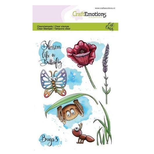 CraftEmotions Clear Stamp A6 - Käfer Bugs 3 by Carla Creaties