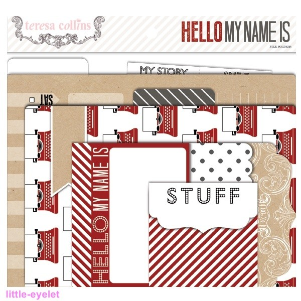 Teresa Collins - Hello My Name Is - File Folders and Tags 5 tlg