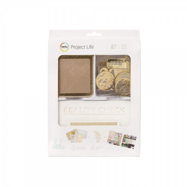 Becky Higgens Project Life Value Kit - Kraft and Foil - by Heidi Swapp