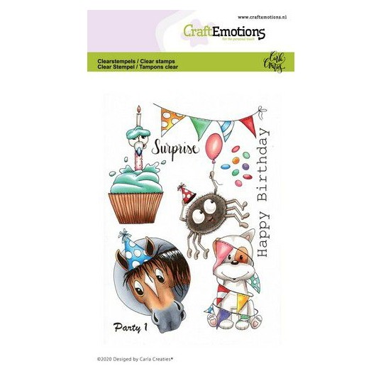 CraftEmotions Clear Stamp A6 - Party 1 - Geburtstag