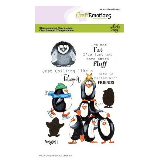CraftEmotions Clear Stamp A6 - Pinguin 1