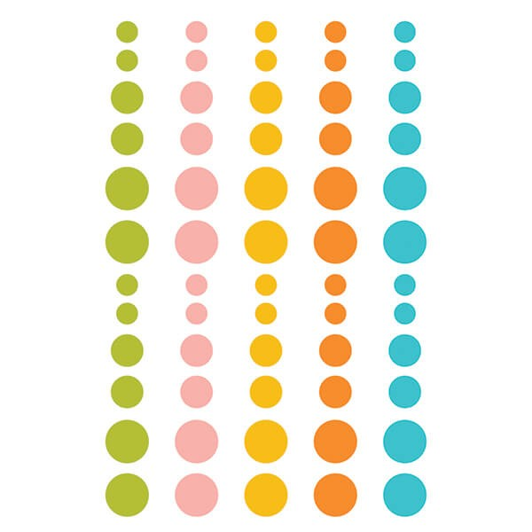 Simple Stories - You Are Here - Enamel Dots 60 tlg