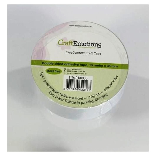 CraftEmotions Easy Connect Craft Tape 35 mm x 15 m