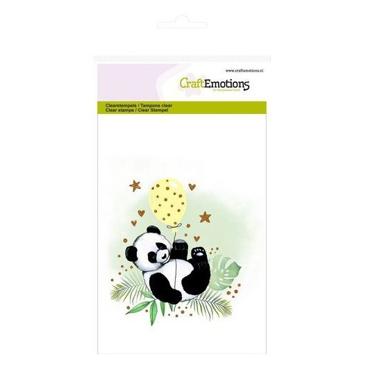 CraftEmotions Clear Stamp A6 - Panda
