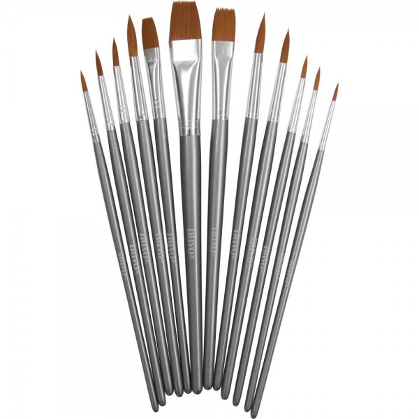 Nuvo Nylon Brushes 12 teiliges Pinselset