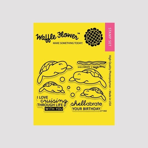 Waffle Flower - Clear Stamp Set - 271060 Shellabrate 9 tlg