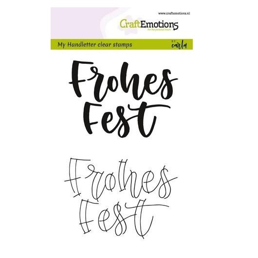 CraftEmotions Clear Stamp A6 - Handletter Frohes Fest