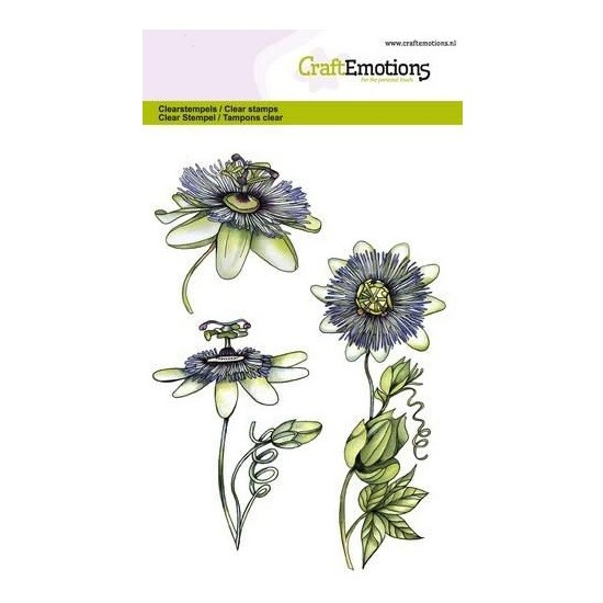 CraftEmotions Clear Stamp A6 - Passion Flower