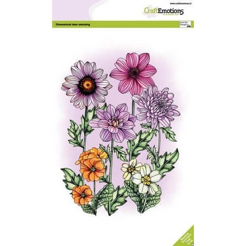 CraftEmotions Clear Stamp A5 - Sommerblumen