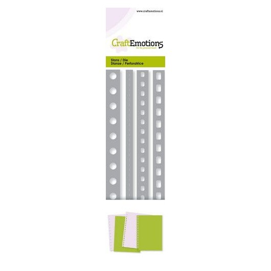 CraftEmotions Stanzschablone Page Perforation