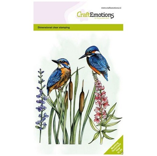 CraftEmotions Clear Stamp A6 - Kingfisher Eisvogel