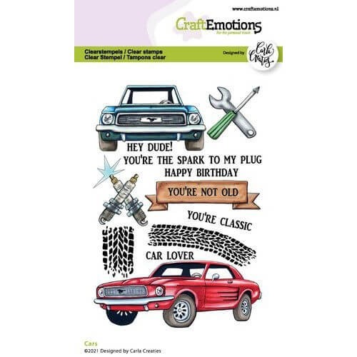 CraftEmotions Clear Stamp A6 - Cars