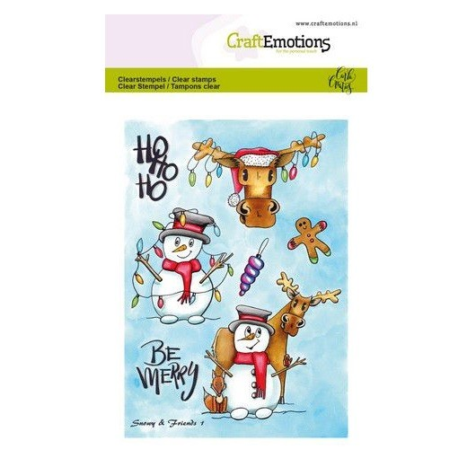CraftEmotions Clear Stamp A6 - Snowy & Friends 1 by Carla Creaties