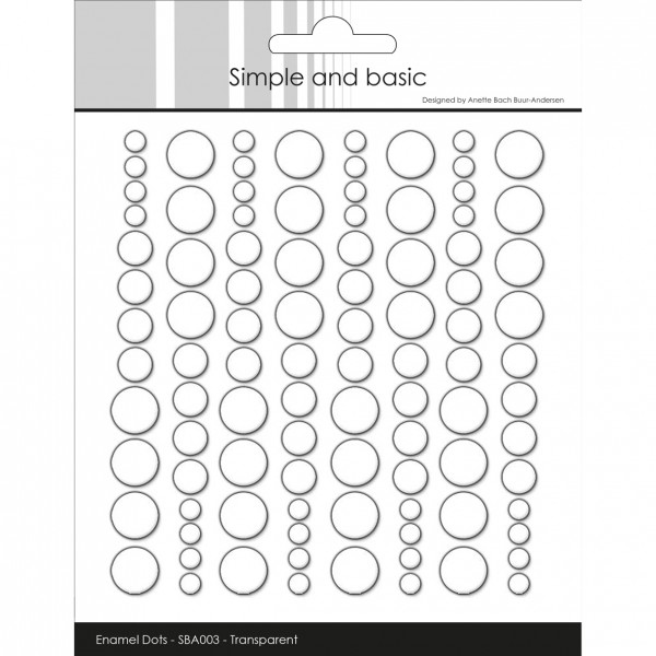 Simple and Basics Enamel Dots Clear Water 96 tlg