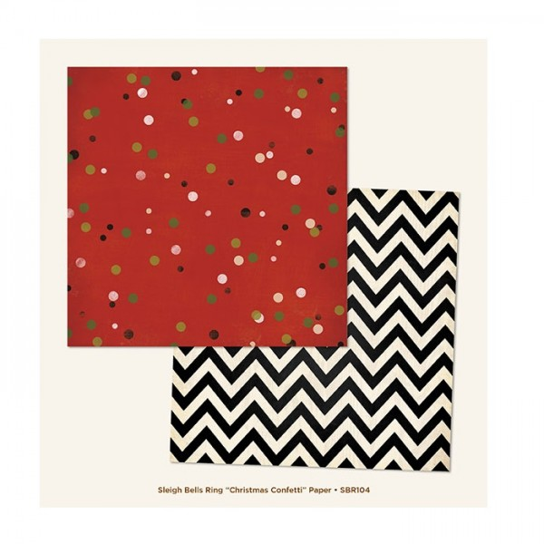 """My Minds Eye - Sleigh Bells Ring - Christmas Confetti 12"""" Paper"""