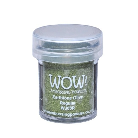 WOW! Embossing Powder Earthtone Olive 15 ml - Embossing Pulver Olive
