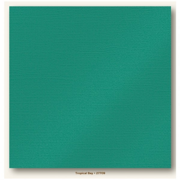 My Colors Glimmer Cardstock 216g/m² Tropical Bay 30,5x30,5cm