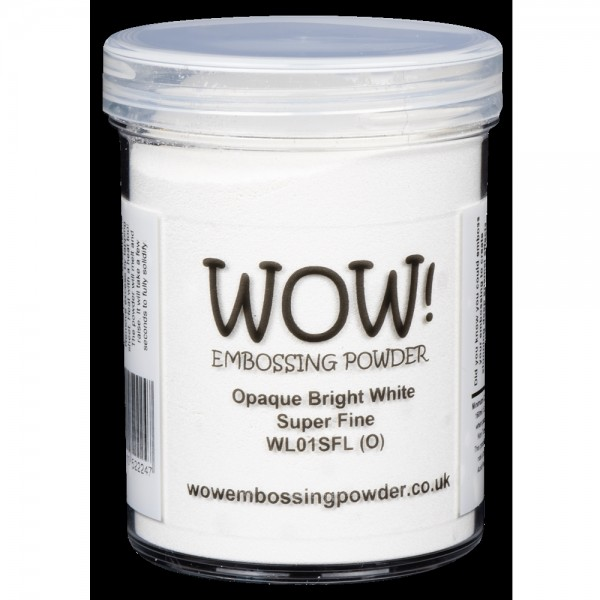 WOW! Embossing Powder Opaque Bright White Super Fine 160 ml - Embossing Pulver