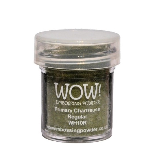 WOW! Embossing Powder Primary Chartreuse 15 ml - Embossing Pulver gelbgrün