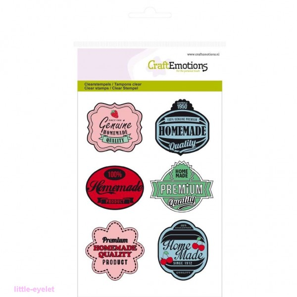 CraftEmotions Clear Stamp Fifties Kitchen - Tags - 6 tlg