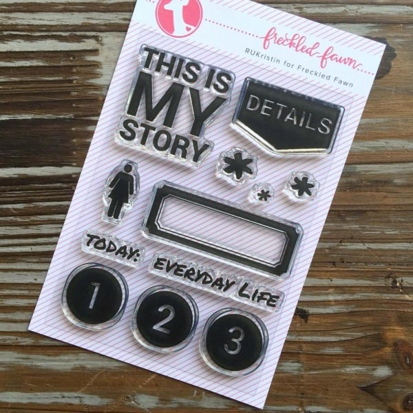 Freckled Fawn Clear Stamp - THIS IS MY STORY - 12 tlg by Hero Arts