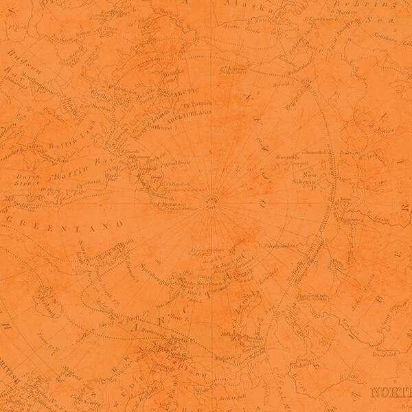 Simple Stories - You Are Here - Orange Map / Pink Map Paper 30,5x30,5 cm